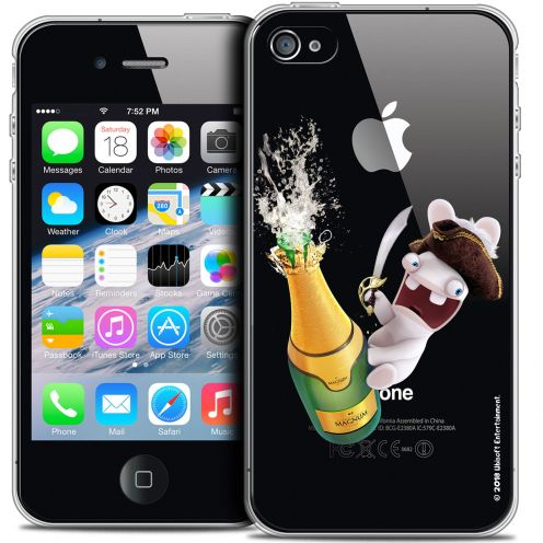 Crystal iPhone 4/4s Case Lapins Crétins™ Champagne !