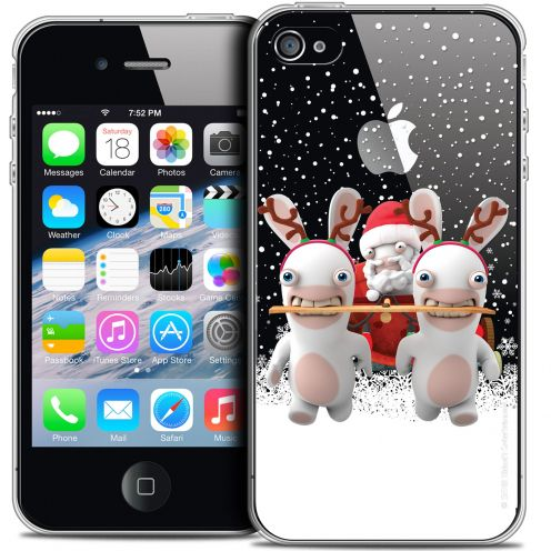 Crystal iPhone 4/4s Case Lapins Crétins™ Lapin Traineau
