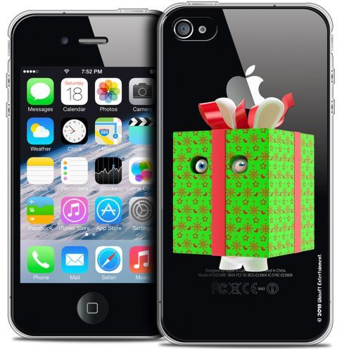 Crystal iPhone 4/4s Case Lapins Crétins™ Lapin Surprise Vert