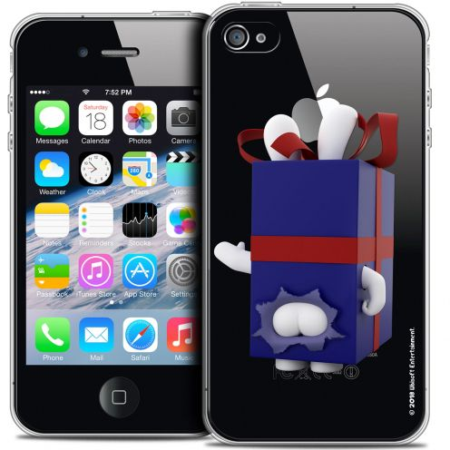 Crystal iPhone 4/4s Case Lapins Crétins™ Lapin Surprise Bleu