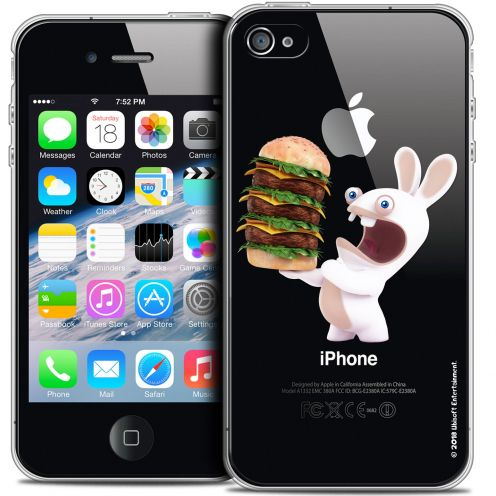 Crystal iPhone 4/4s Case Lapins Crétins™ Burger Crétin