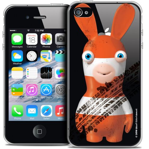Crystal iPhone 4/4s Case Lapins Crétins™ On the Road