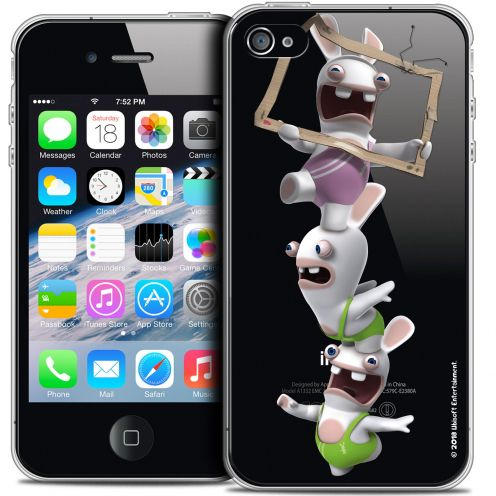 Crystal iPhone 4/4s Case Lapins Crétins™ TV Sport