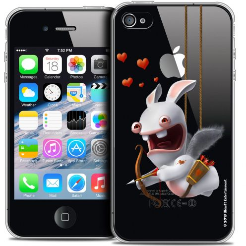 Crystal iPhone 4/4s Case Lapins Crétins™ Flying Cupidon