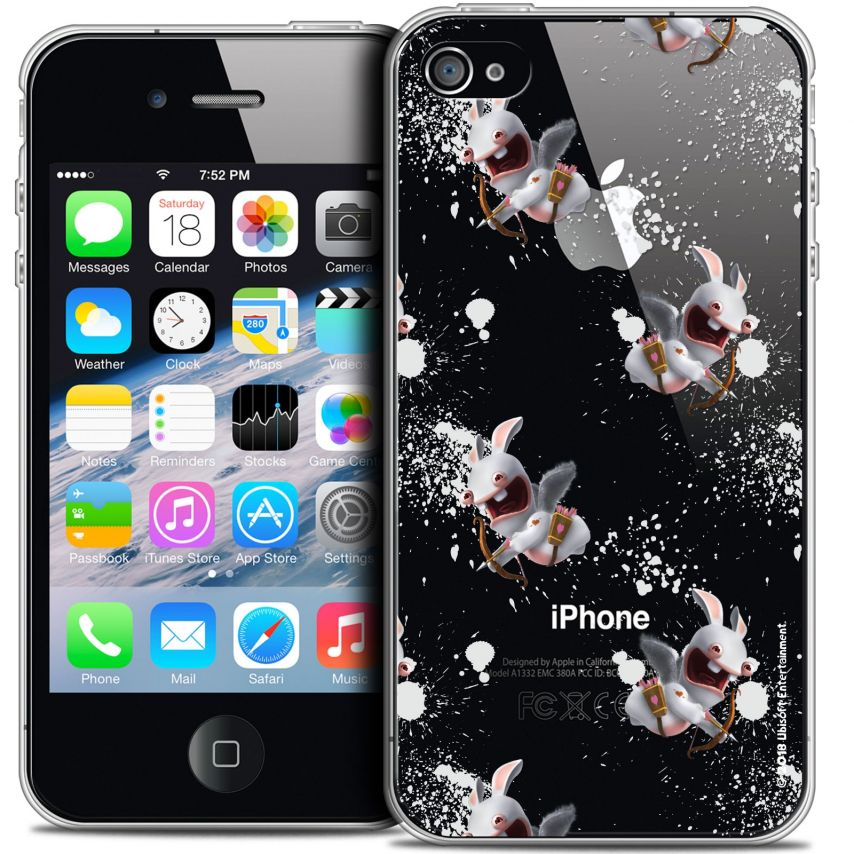 Crystal iPhone 4/4s Case Lapins Crétins™ Cupidon Pattern