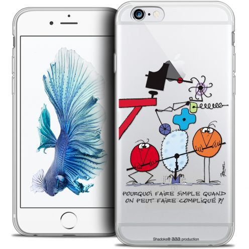 Extra Slim Crystal iPhone 6/6s Case Les Shadoks® Pourquoi faire Simple