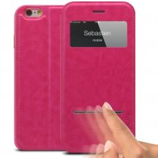 Smart Touch View Folio Cover for iPhone 6 Plus - Pink