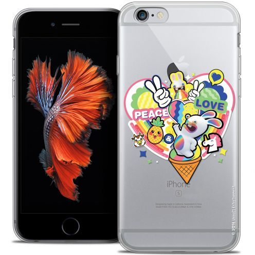 Crystal iPhone 6/6s Plus 5.5 Case Lapins Crétins™ Peace And Love