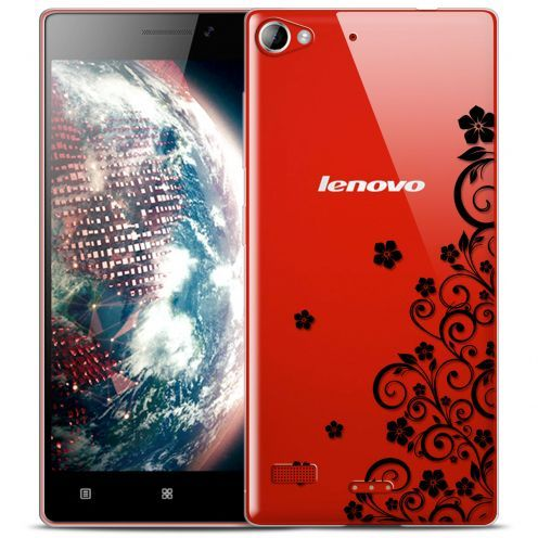 Ultra thin 0.5 mm Crystal Floral Noir Flexible Case for Lenovo Vibe X2