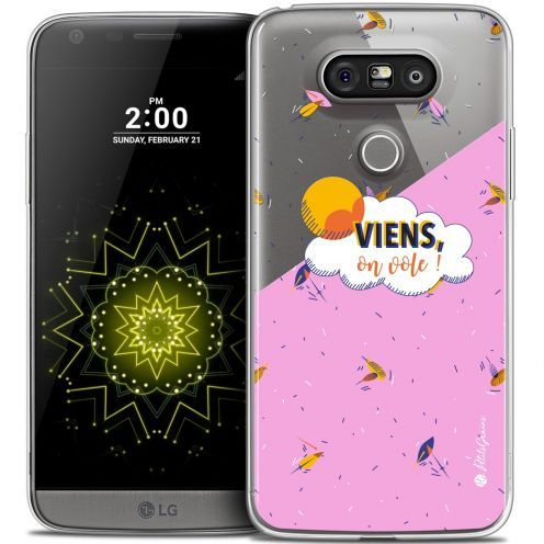 Extra Slim Crystal LG G5 Case Petits Grains® VIENS, On Vole !