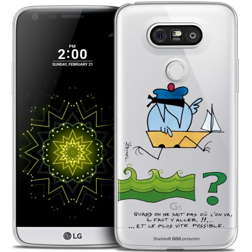 Extra Slim Crystal LG G5 Case Les Shadoks® Il Faut Y Aller !!