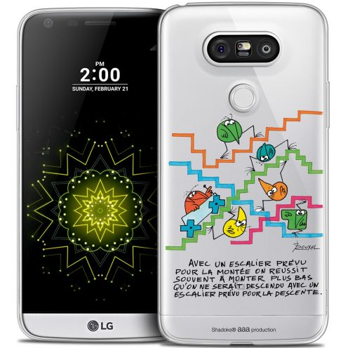 Extra Slim Crystal LG G5 Case Les Shadoks® L'escalier