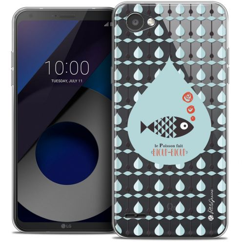 "Extra Slim Crystal Gel LG Q6 (5.5"") Case Petits Grains® Le Poisson"