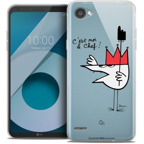 "Extra Slim Crystal Gel LG Q6 (5.5"") Case Les Shadoks® Le Chef"