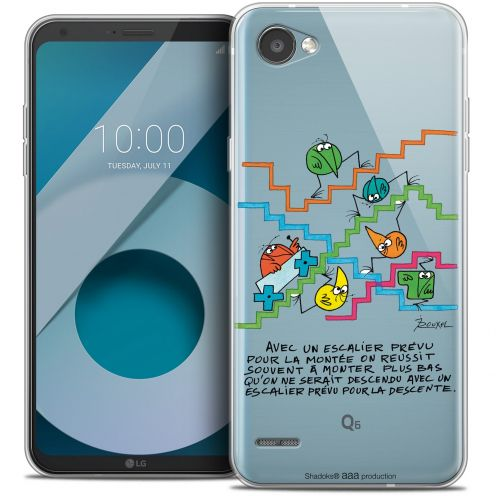 "Extra Slim Crystal Gel LG Q6 (5.5"") Case Les Shadoks® L'escalier"