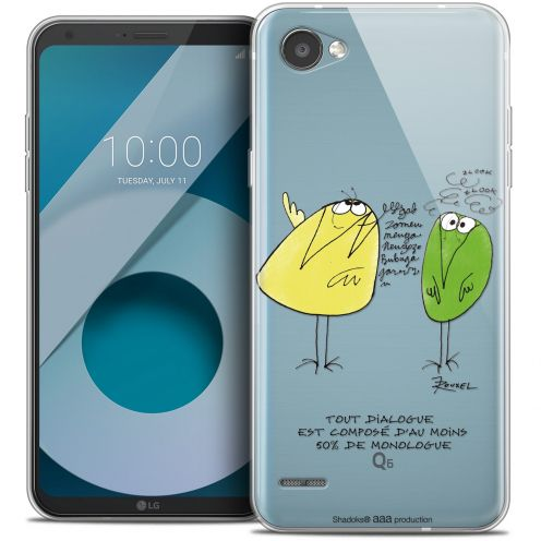 "Extra Slim Crystal Gel LG Q6 (5.5"") Case Les Shadoks® Le Dialogue"