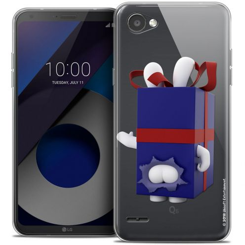 "Crystal Gel LG Q6 (5.5"") Case Lapins Crétins™ Lapin Surprise Bleu"