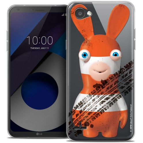 """Crystal Gel LG Q6 (5.5"""") Case Lapins Crétins™ On the Road"""