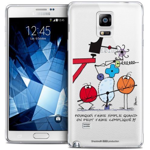 Extra Slim Crystal Galaxy Note 4 Case Les Shadoks® Pourquoi faire Simple