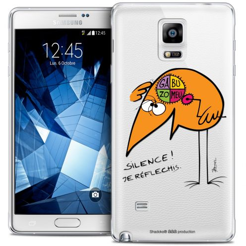 Extra Slim Crystal Galaxy Note 4 Case Les Shadoks® Silence !