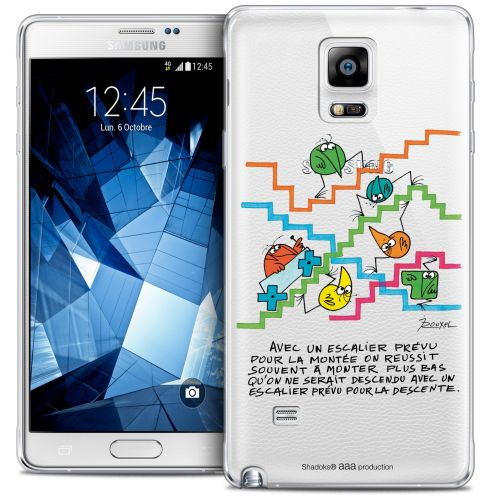 Extra Slim Crystal Galaxy Note 4 Case Les Shadoks® L'escalier