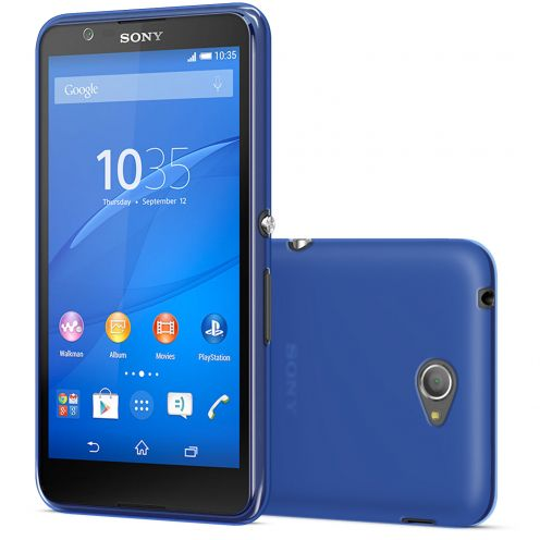 Frozen Ice Extra Slim Blue soft case for Sony Xperia E4