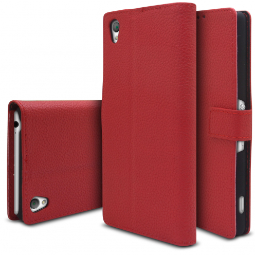 Smart Cover XPERIA Z3 Red Leatherette Full Grain