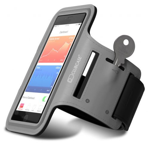 "Clubcase® T1 Sport Armband for iPhone 6/6s Universal (4 to 4.7"") S/M/L Grey"
