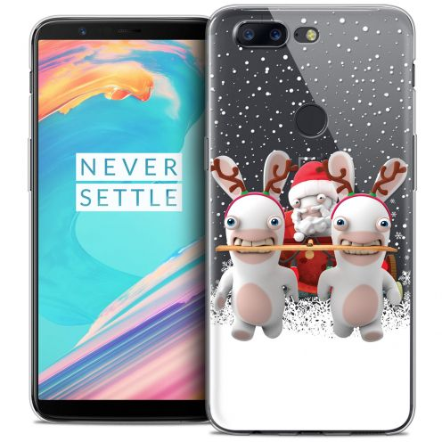 """Crystal Gel OnePlus 5T (6"""") Case Lapins Crétins™ Lapin Traineau"""