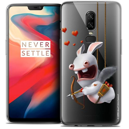 """Crystal Gel OnePlus 6 (6.28"""") Case Lapins Crétins™ Flying Cupidon"""