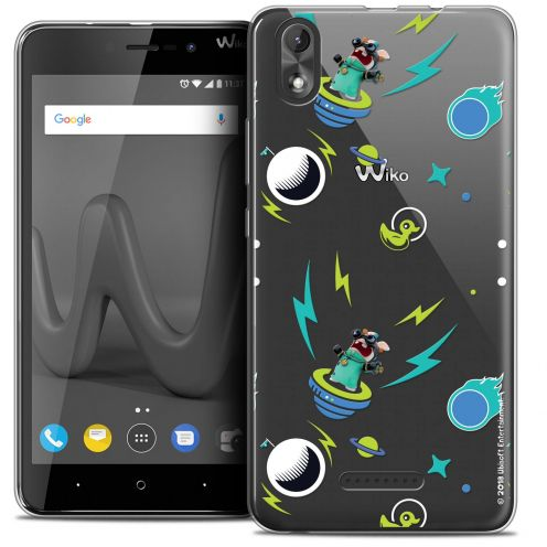 """Crystal Gel Wiko Lenny 4 PLUS (5.5"""") Case Lapins Crétins™ Space 1"""