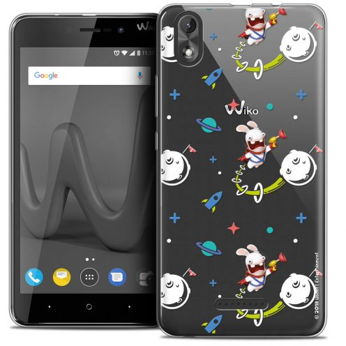 """Crystal Gel Wiko Lenny 4 PLUS (5.5"""") Case Lapins Crétins™ Space 2"""