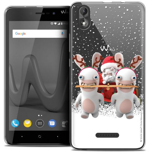 """Crystal Gel Wiko Lenny 4 PLUS (5.5"""") Case Lapins Crétins™ Lapin Traineau"""
