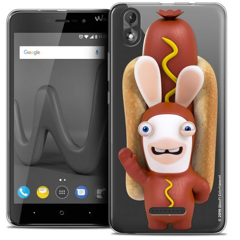 "Crystal Gel Wiko Lenny 4 PLUS (5.5"") Case Lapins Crétins™ Hot Dog Crétin"