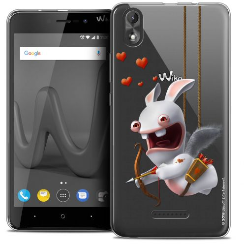 "Crystal Gel Wiko Lenny 4 PLUS (5.5"") Case Lapins Crétins™ Flying Cupidon"