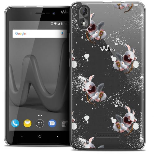 """Crystal Gel Wiko Lenny 4 PLUS (5.5"""") Case Lapins Crétins™ Cupidon Pattern"""