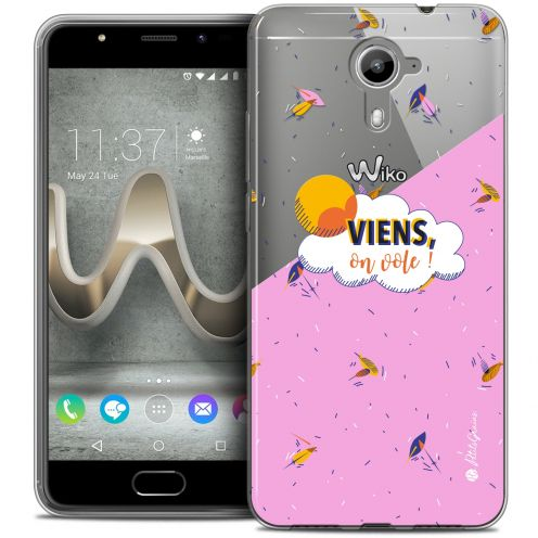 Extra Slim Crystal Gel Wiko U Feel PRIME Case Petits Grains® VIENS, On Vole !