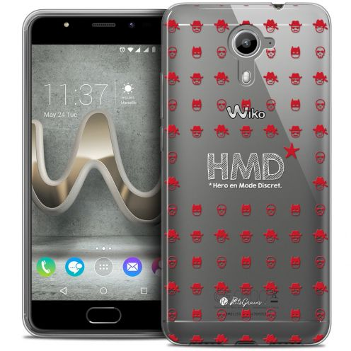 Extra Slim Crystal Gel Wiko U Feel PRIME Case Petits Grains® HMD* Hero en Mode Discret