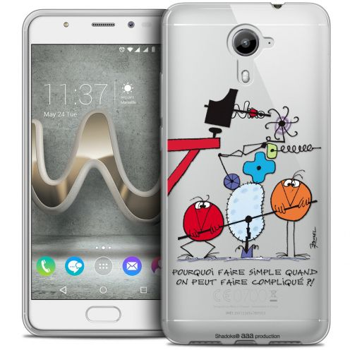 Extra Slim Crystal Gel Wiko U Feel PRIME Case Les Shadoks® Pourquoi faire Simple