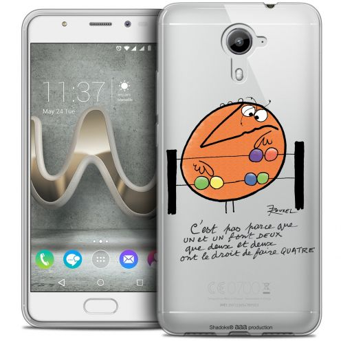 Extra Slim Crystal Gel Wiko U Feel PRIME Case Les Shadoks® Mathématique