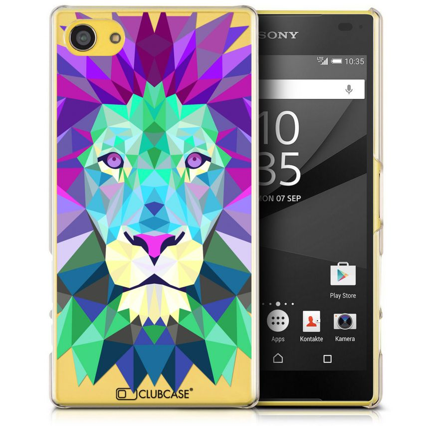 Extra Slim Crystal Xperia Z5 Compact Case Polygon Animals Lion