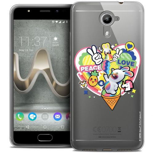 Crystal Gel Wiko U Feel PRIME Case Lapins Crétins™ Peace And Love