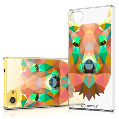 Extra Slim Crystal Xperia Z5 Compact Case Polygon Animals Deer