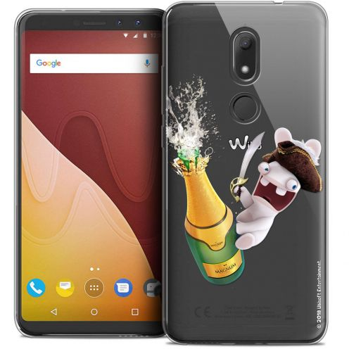 """Crystal Gel Wiko View PRIME (5.7"""") Case Lapins Crétins™ Champagne !"""