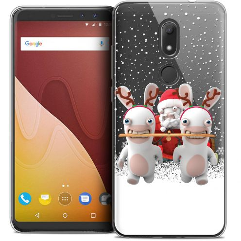 """Crystal Gel Wiko View PRIME (5.7"""") Case Lapins Crétins™ Lapin Traineau"""