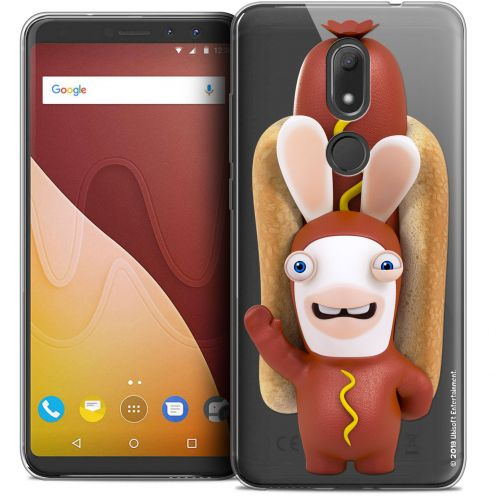 """Crystal Gel Wiko View PRIME (5.7"""") Case Lapins Crétins™ Hot Dog Crétin"""