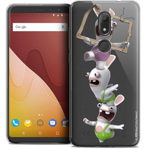 """Crystal Gel Wiko View PRIME (5.7"""") Case Lapins Crétins™ TV Sport"""