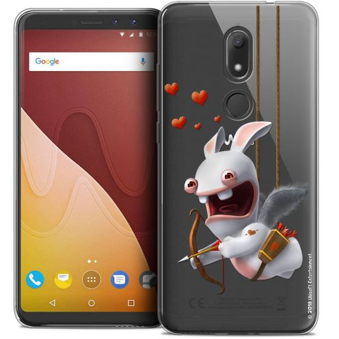 """Crystal Gel Wiko View PRIME (5.7"""") Case Lapins Crétins™ Flying Cupidon"""