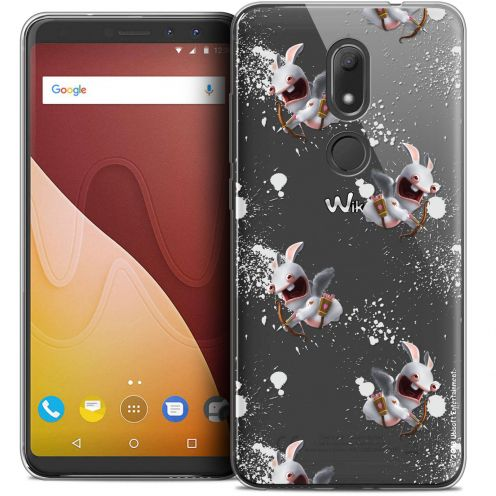 """Crystal Gel Wiko View PRIME (5.7"""") Case Lapins Crétins™ Cupidon Pattern"""