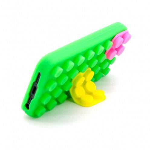 "iPhone 5 Block case ""LEGO"" Design green, yellow and pink"